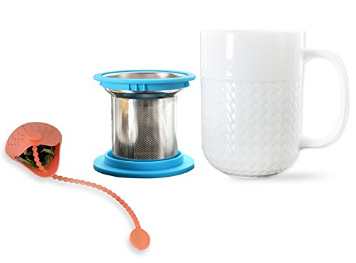 Best Deals! LIMITED SALE - Tea Infuser Mug -with FREE Silicon Tea Bag. Your Perfect- Loose Leaf Tea ...
