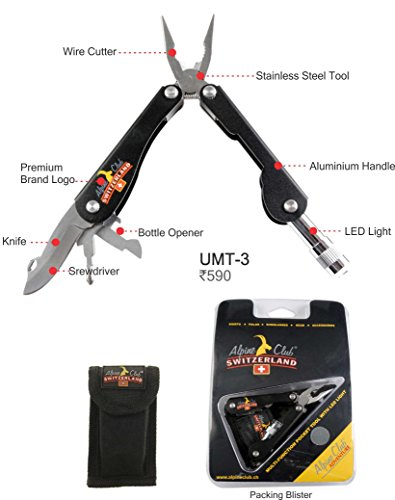 Multi Tool With Pivot LED Light