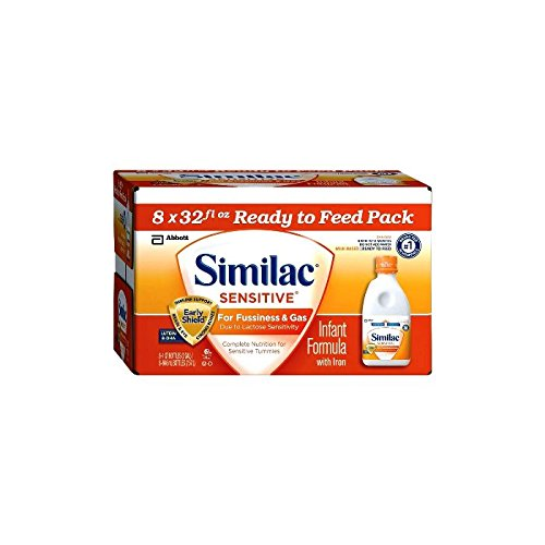 Abbott Similac Sensitive for Fussiness and Gas, Ready to Feed, 8 Count - 1