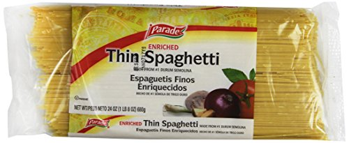 Parade Thin Spaghetti, 24 Ounce (Pack of 12) (Spaghetti 24 Oz compare prices)
