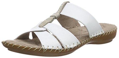 Jana27107 - Ciabatte Donna , Bianco (bianco (White 100)), 37