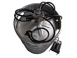 Ubertap Multi Faucet Keg Tap with Foot Pump Balck and Chrome D System