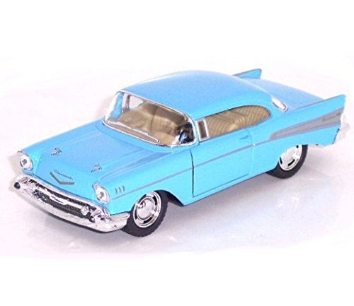 "5"" Die-cast 1957 Chevy Bel Air Coupe 1:40 Scale (Blue) - 1"