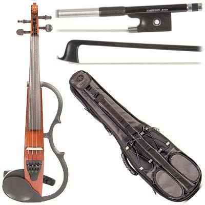 Yamaha Sv-130 Concert Select Silent Electric Brown 4/4 Violin Outfit Including A Johnson Artist Carbon Composite Bow & Yamaha Gray Gig Bag