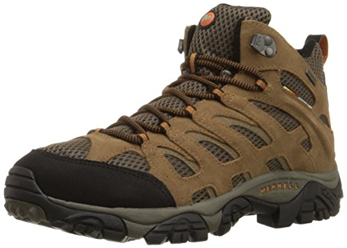 Merrell Men's Moab Mid Waterproof Hiking Boot,Earth,12 M US