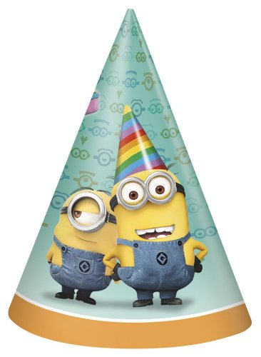 Despicable Me 2 Party Hats, 8-Piece