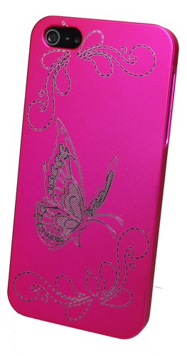 Trendline24 A portafoglio Design Butterfly magenta per mela iPhone 5