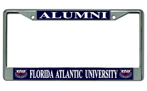 florida-atlantic-university-alumni-chrome-license-plate-frame