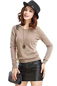 PinkWind Women's Cashmere Long Sleeve…