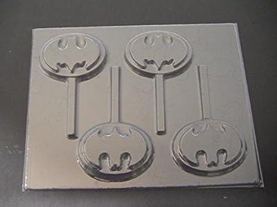 Capeman Emblem Chocolate Candy Lollipop Mold Batman