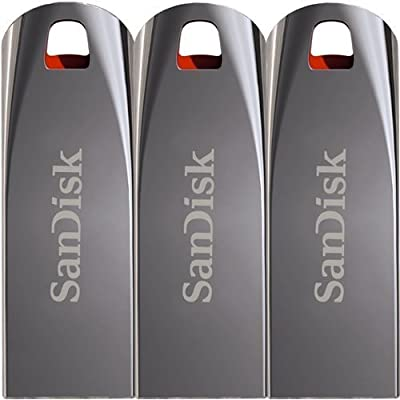 Sandisk 16GB Cruzer Force USB flash/Pen Drive Durable Metal Casing Pack Of 3Pcs Only From M.P.Enterprises