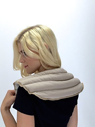 My Heating Pad- Neck & Shoulder Wrap Hot & Cold Therapy – Tense Shoulder Relief (White)