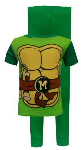 Teenage Mutant Ninja Turtle Michelangelo Toddler Pajama Set For Boys (4T)