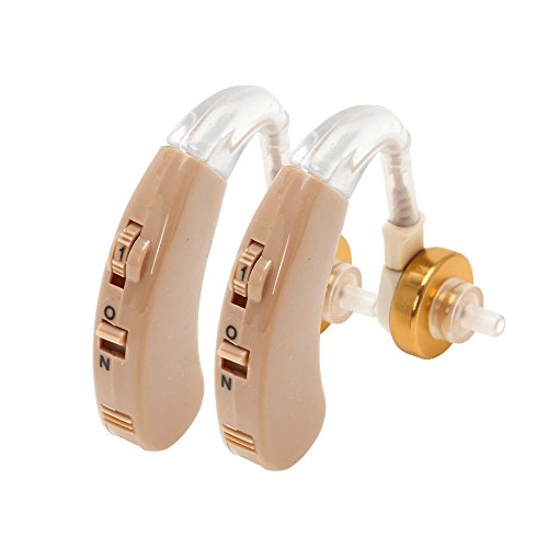 Hearing Amplifier BTE Behind The Ear Aid, Adjustable, Digital, Volume Control, Sound Amplifier (Pair)