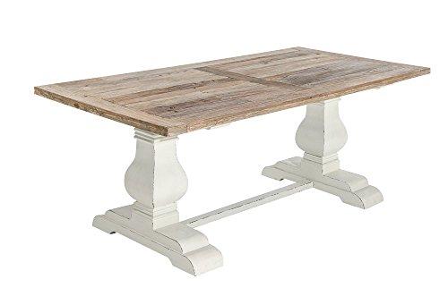 CLP-Holz-Esszimmer-Tisch-SEVERUS-handgefertigt-stabil-Shabby-chic-Landhaus-Stil-bis-zu-4-Gren-whlbar-natura-240-x-100-x-78-cm