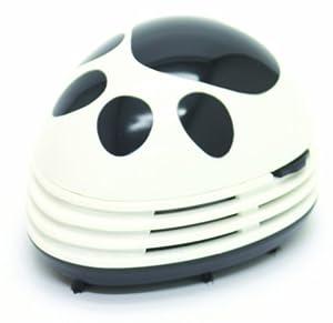 Starfrit Gourmet Mini Table Vaccum Cleaner, Black Paw Prints Design, White by Starfrit USA Inc
