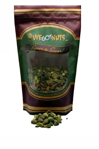 Raw California Shelled Pistachios , Whole Kernels - We Got Nuts (5 Lbs.)