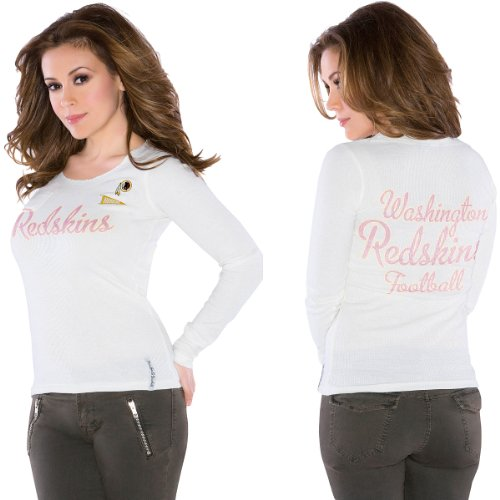 Touch by Alyssa Milano Washington Redskins Women's Vintage Long Sleeve Thermal Top XX Large at Amazon.com