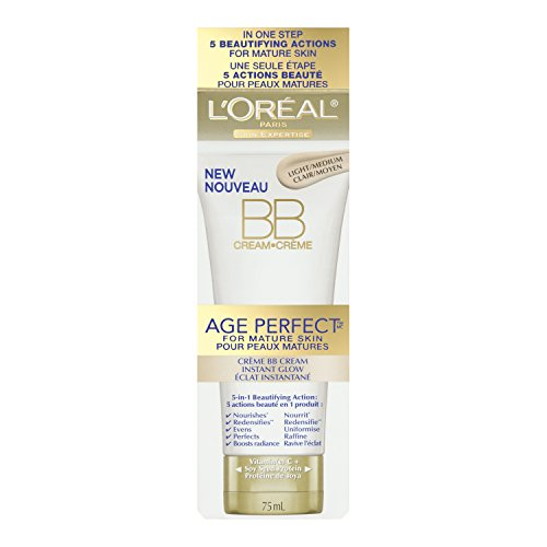 L'Oreal Paris discount duty free L'Oreal Paris Age Perfect BB Cream Instant Radiance, 2.5 Fluid Ounce