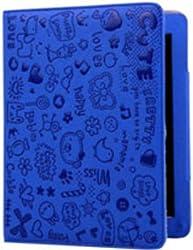 KolorFish iLove Cute Funky Designer Leather Flip Book Type Case Cover for Apple iPad 2, iPad 3 & iPad 4 Blue