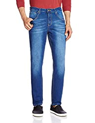 Cherokee Men's Tapered Fit Jeans (8907242789248_267695489_32W x 30L_Blue)