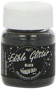 Rainbow Dust Colours Edible Glitter Black Mini Bulk 40 g