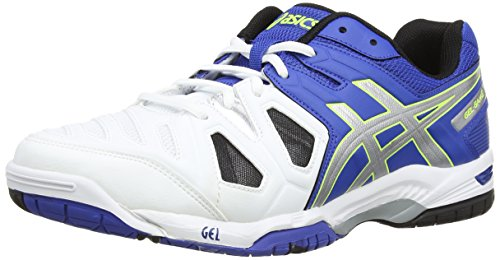 Asics - Gel-Game 5, Scarpe Da Tennis da uomo, blu (blue/silver/flash yellow 4293), 44 EU (9 UK)