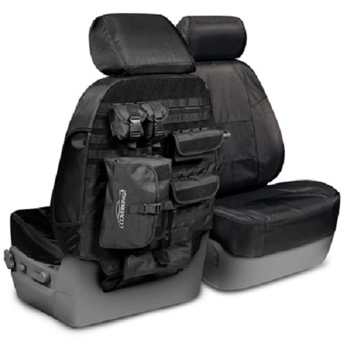 Coverking Custom Tactical Seat Package For Select Toyota Tacoma Models - Black
