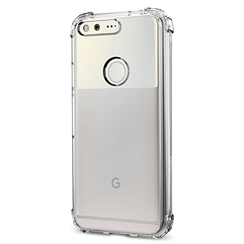 Spigen-Crystal-Shell-Google-Pixel-Case-with-Clear-back-panel-and-Reinforced-Corners-on-TPU-bumper-for-Google-Pixel-2016-Crystal-Clear