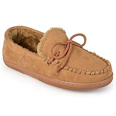 Boston Traveler Mens Faux Suede Mocassin Slippers