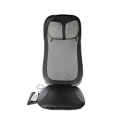 Neck and Shoulder Shiatsu Back Massage Cushion with Heat (PU Leather Outer Cover)