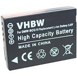 Batterie LI-ION pour PaNASONIC LUMIX DMC-TZ8, DMC-TZ10, DMC-ZX1 ZX3 TZ6 TZ7 remplace DMW-BCG10 compatible avec Firmware (1.0/1.1/1.2/1.3)