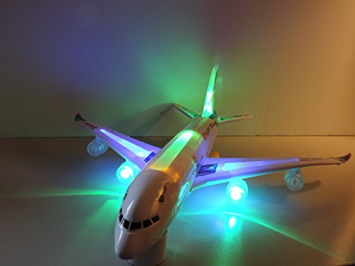A330 Airline Bump n' Go Action Flashing Music Plane Toy - 1