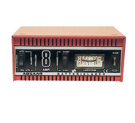 Absaar 77911 Batterieladegerät 8 AH   6/12V