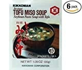 Kikkoman Instant Tofu Miso Soup (Soybean Paste Soup with Tofu) (Pack of 6)