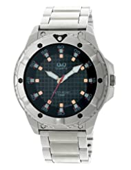 Q&Q Black Dial Men's Watch - Q276N202Y