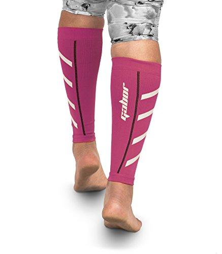 Gabor Fitness Graduated 20-25mm Hg Compression Running Leg Sleeves, Medium, Pink