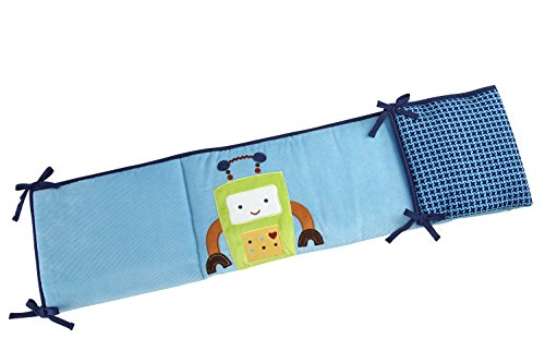 NoJo Baby Bots Traditional Padded Bumper - 1