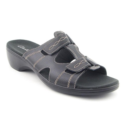 Clarks Prairie Lily Sandals Slides Slides Sandals Shoes Black Womens New/Display UK 7