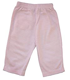 Kissy Kissy Baby Stripes Striped Pants-White With Pink-Newborn