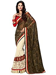 coolwomen women's georgette embroidered free size fancy saree-cw_cwRGNA354_multicolor_free size