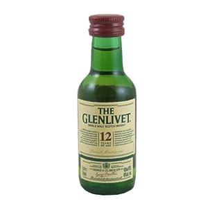 Glenlivet 12 year old Single Malt Whisky 5cl Miniature