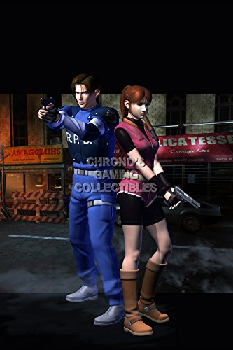 CGC Huge Poster - Resident Evil 2 Leon and Claire PS1 PS3 - REE047 (24