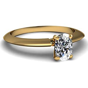 0.50 Ct Cushion Very Good Cut Diamond Solitaire Engagement Ring VS1 14K GIA Certificate # 5166660806