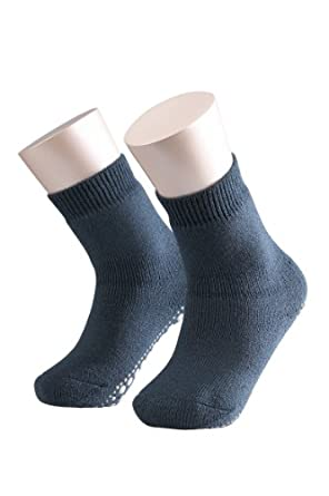 FALKE Unisex - Kinder Socken 10500 Catspads Homesock, Gr. 27-30, blau (dark blue 6680 )