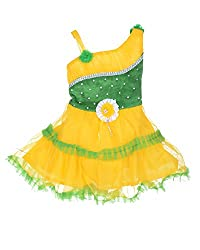 D.S. Fashion Baby Girls Frock (Yellow & Green, 18)