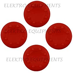 Third Party Xbox One, PS4 High Quality Anti-Slip Silicone Cap Cover - 4 PCS (Red)