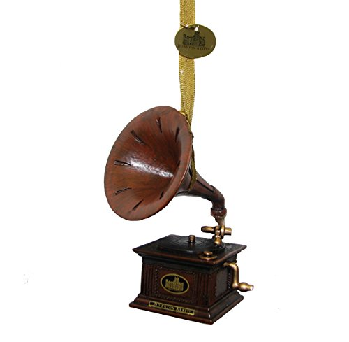 Kurt Adler Downton Abbey Gramophone Ornament, 4-Inch