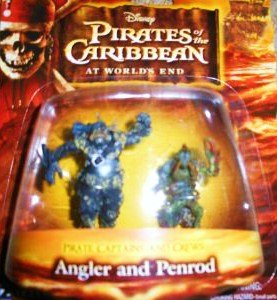 Pirates of the Caribbean At World's End Pirate Captains & Crews Series Angler and Penrod Figure Set