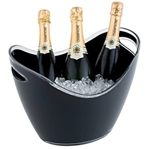 Black Acrylic Wine / Champagne Bowl Buckets - Holds Up To Three Bottles from Sussex Supplies